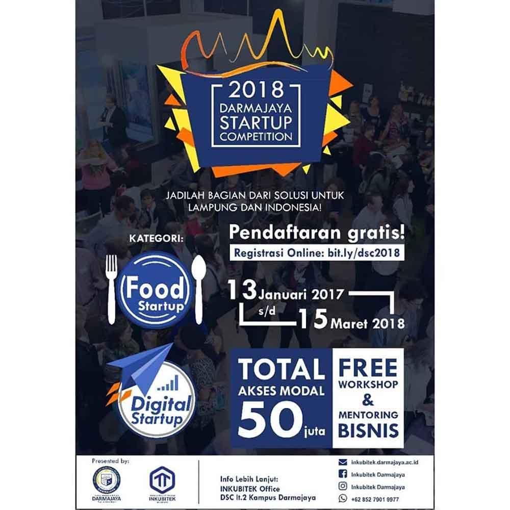 Yuk Daftar Darmajaya Startup Competition 2018