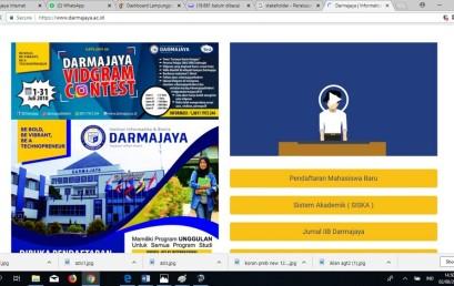 Wow…Darmajaya.ac.id Website PTS Peringkat 1 Versi Webometrics di Lampung