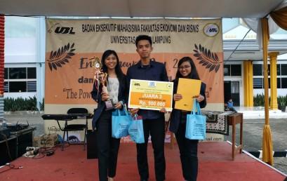 Mahasiswa IIB Darmajaya Juara Tiga Bussines Plan Tingkat Provinsi Lampung
