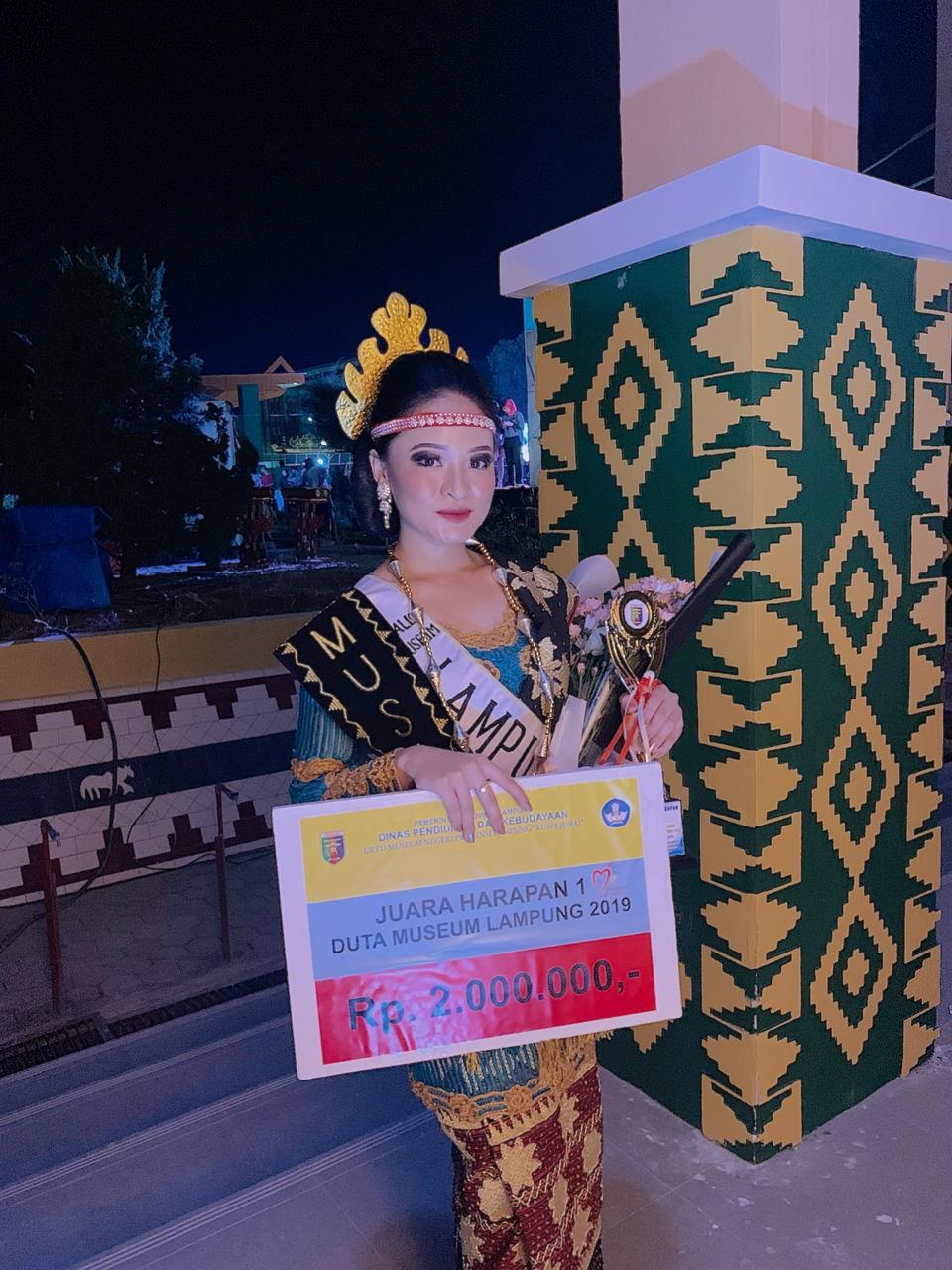 Mahasiswi Darmajaya Raih Juara Harapan I Duta Museum Lampung 2019