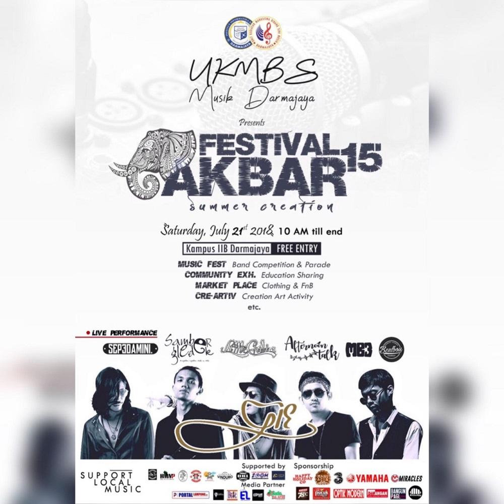 Saksikan dan Ikuti, UKMBS Musik IIB Darmajaya Gelar Festival Akbar 2018