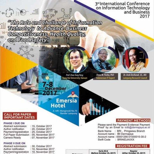 International Conference on Information Technology and Business (ICITB) 2017