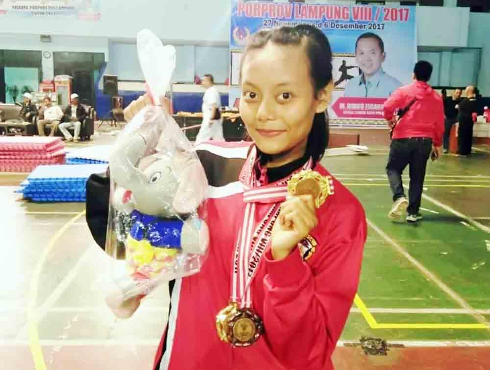 Porprov Lampung 2017, Mahasiswa Darmajaya Boyong 2 Emas Cabor Kempo