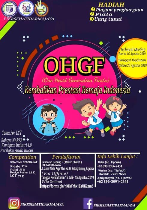 Pendidikan Reproduksi kepada Remaja, PIK-R Sehati Darmajaya Gelar OHGF