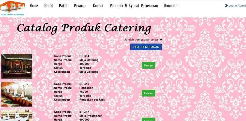 Mahasiswi Rancang Sistem Informasi Sewa Peralatan Pernikahan Berbasis Web